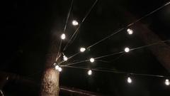 Light bulbs in the wedding decor Stock Footage