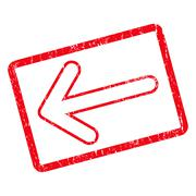 Rounded Arrow Left Icon Rubber Stamp Stock Illustration
