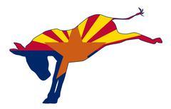 Arizona Republican Donkey Flag Stock Illustration
