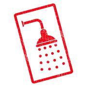 Shower Icon Rubber Stamp Stock Illustration