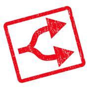 Split Arrows Right Icon Rubber Stamp Stock Illustration