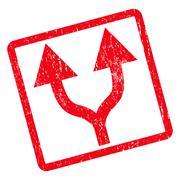 Split Arrows Up Icon Rubber Stamp Stock Illustration