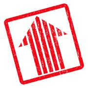 Stripe Arrow Up Icon Rubber Stamp Stock Illustration