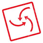 Swirl Arrows Icon Rubber Stamp Stock Illustration