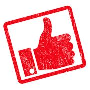 Thumb Up Icon Rubber Stamp Stock Illustration
