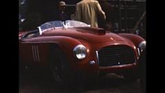 Vintage 16mm film, 1950 Watkins Glen GP pits b-roll Stock Footage