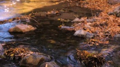 Small creek with waterfalls in the Autumn. Stock Footage