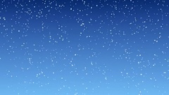 Snowfall against the blue sky seamless looping Stock Footage