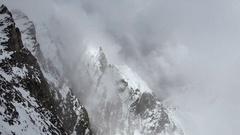 Aerial View of Alpen Mountain Peak in Switzerland Stock Footage