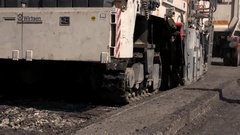 Tracked construction vehicle. Stock Footage
