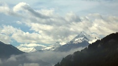 Time Lapse of Mountains with flowing Clouds Stock Footage