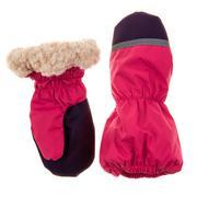 Children's autumn-winter mittens Stock Photos