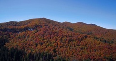Aerial, Beautiful Autumn Landscape, Velebit, Croatia Stock Footage
