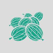 Gooseberry icon Stock Illustration