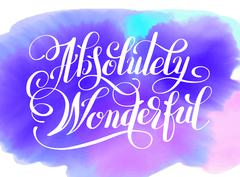 Absolutely Wonderful hand lettering inscription typography poste Stock Illustration