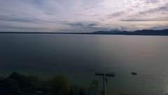 Aerial over the Chiemsee Stock Footage