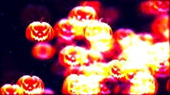 HD Loopable Background with nice flying pumpkins Stock Footage