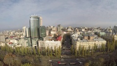 Flight over the Boulevard of Shevchenko, Kiev, Ukraine Stock Footage