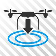 Drone Landing Vector Eps Icon Stock Illustration