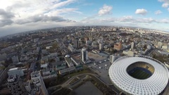 Aerial view of Kiev city  in autumn Stock Footage