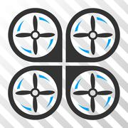 Quadrotor Screws Rotation Vector Eps Icon Stock Illustration