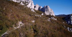 Aerial, Hills At Ravni Dabar, Velebit, Croatia- Graded and stabilized version Stock Footage