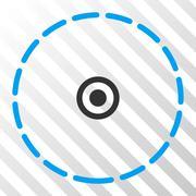 Round Area Vector Eps Icon Stock Illustration