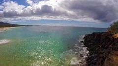 Maui Big Beach Makena State Park Time Lapse. Stock Footage