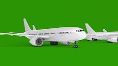 Commercial Airplane Stock Footage