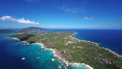 Aerial view of the Baths, Virgin Gorda Stock Footage