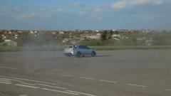 Mitsubishi Lancer Evolution Subaru Impreza Drift drag racing Stock Footage
