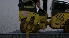 Small vibratory compactor. Stock Footage