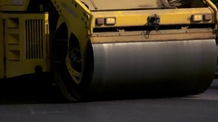 Drum roller on road. Stock Footage