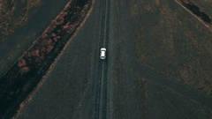 Car Driving On Gravel Road In Iceland Stock Footage