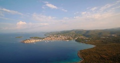 Aerial, View From Kremik Hill, Primošten, Croatia Stock Footage