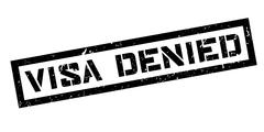 Visa Denied rubber stamp Stock Illustration