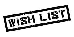 Wish List rubber stamp Stock Illustration