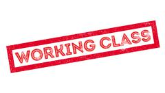 Working Class rubber stamp Stock Illustration