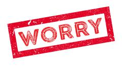 Worry rubber stamp Stock Illustration