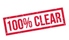 100 percent clear rubber stamp Stock Illustration
