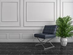 White interior with chair. 3d illustration Piirros