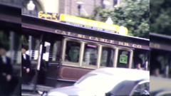 People Ride Streetcar Cablecar San Francisco 1940s Vintage Film Home Movie  Stock Footage