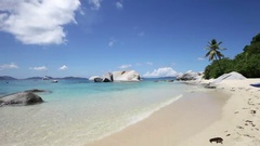 The Baths Beach, Virgin Gorda, British Virgin Islands Stock Footage