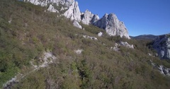 Aerial, Hills At Ravni Dabar, Velebit, Croatia Stock Footage