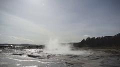 Strokkur Geyser Erupting In Iceland Stock Footage