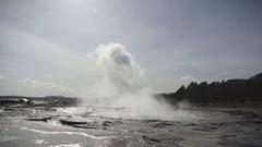 Strokkur Geyser Erupting In Slow Motion Stock Footage