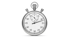 Animation stopwatch on a white background. A full minute. Stock Footage
