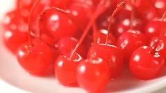 Cocktail cherry rotation Stock Footage