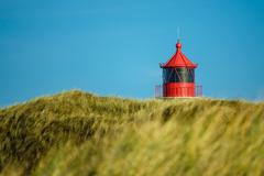 Lighthouse in Norddorf on the island Amrum Stock Photos