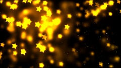Falling golden stars HD 1080 loop Stock Footage
